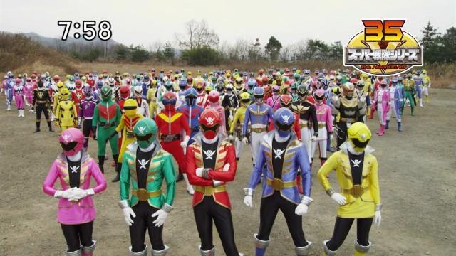 Ini nih 35 Generasi Super Sentai ngumpul