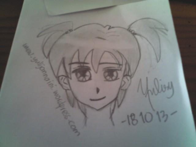 Nah, ini hasil karya saya. Dari dulu suka sama gambar tokoh manga.